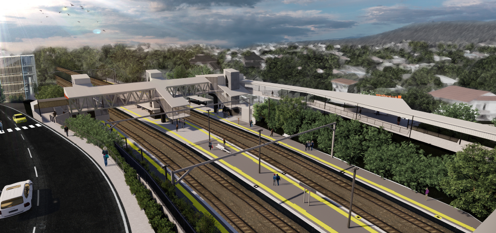 Auchenflower station accessibility upgrade concept design aerial view